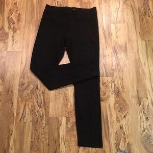 Pants - Black Leggings with Texture Detail